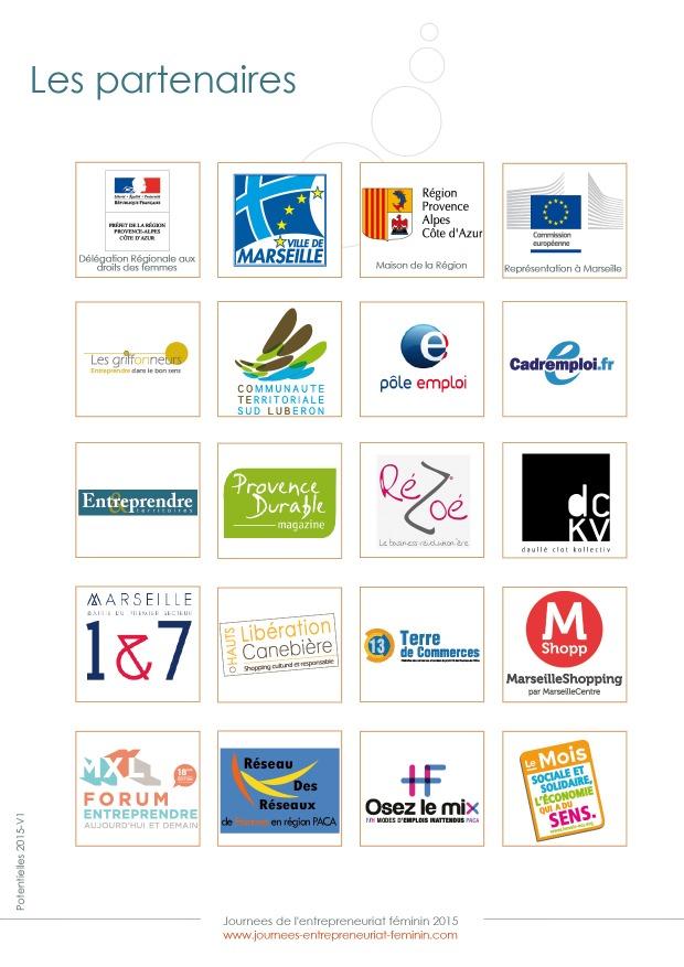 Partenaires Journées de l'Entrepreneuriat Féminin 2015