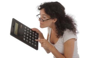 femme avec calculette humour