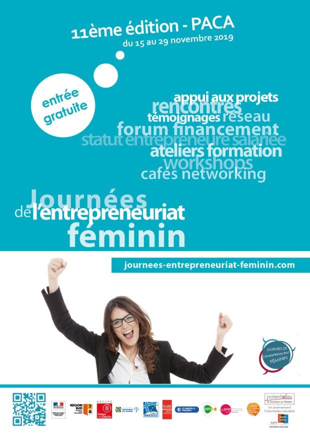 Flyer/affiche Journées de l'Entrepreneuriat Féminin 11ème édition